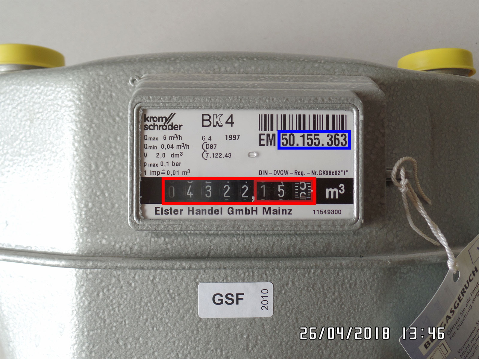 Gaszähler ablesen